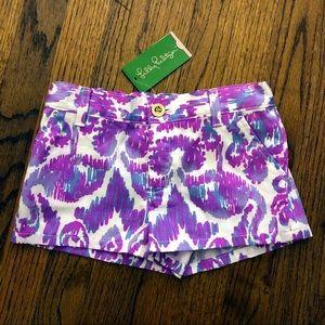 Lilly Pulitzer Amethyst Callahan shorts girls 7